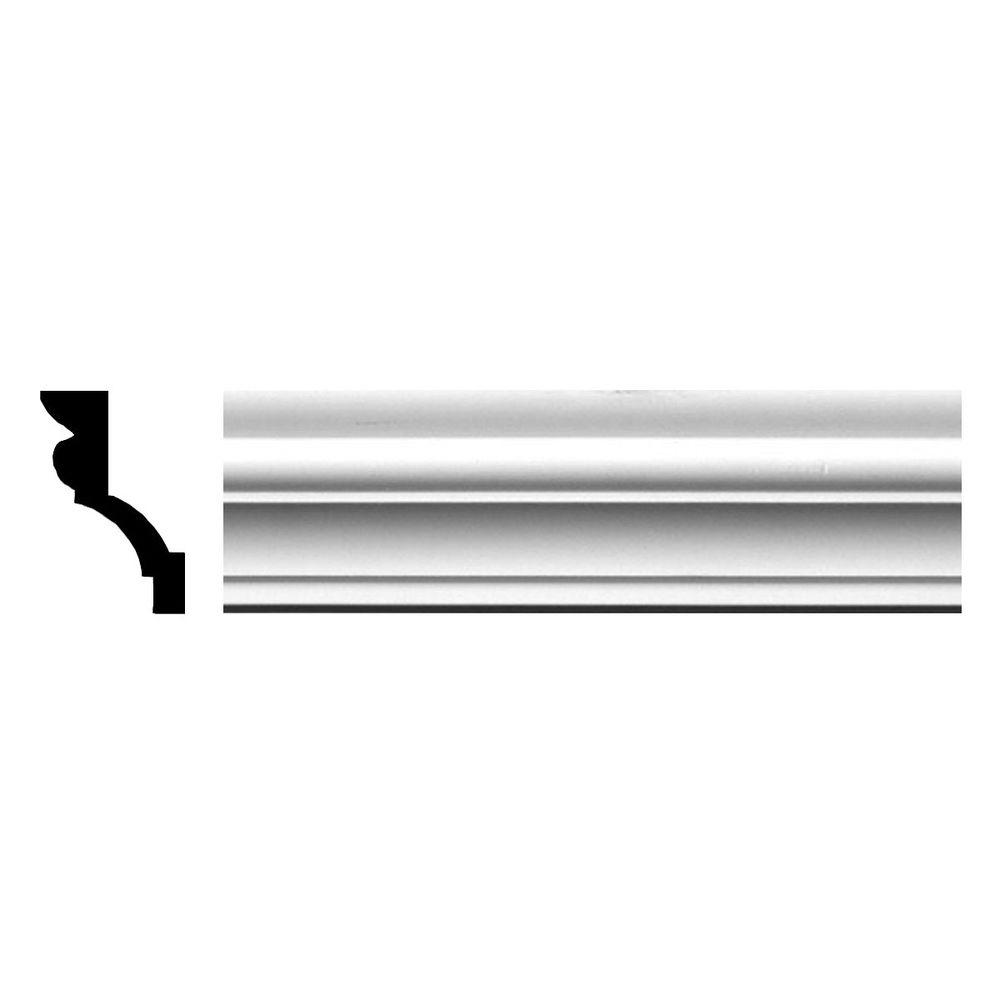 Ekena Millwork 1-7/8 in. x 2-7/8 in. x 94-1/2 in. Polyurethane Asa Smooth Crown Moulding