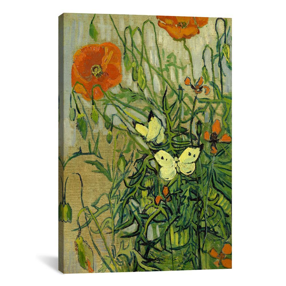 Vincent van gogh 26 in x 18 in butterflies and poppies by vincent internet 304342161 vincent van gogh mightylinksfo