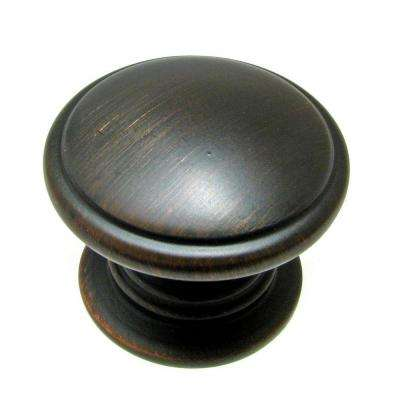 Traditional 1-1/4 in. Oil-Rubbed Bronze Round Knob