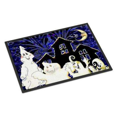 18 in. x 27 in. Indoor/Outdoor The Gang's All Here Ghosts Halloween Door Mat