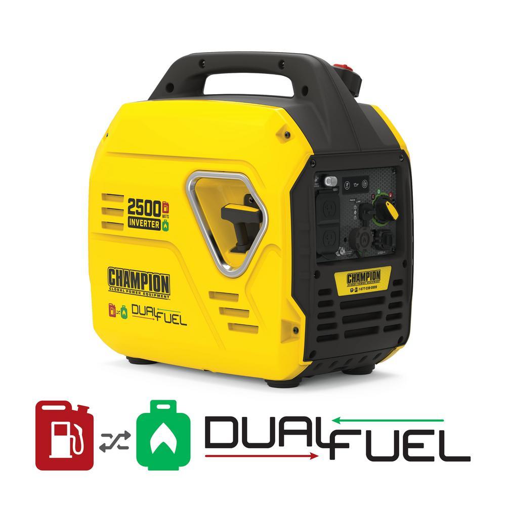 2500-Watt Ultralight Portable Dual Fuel Recoil Start Inverter Generator