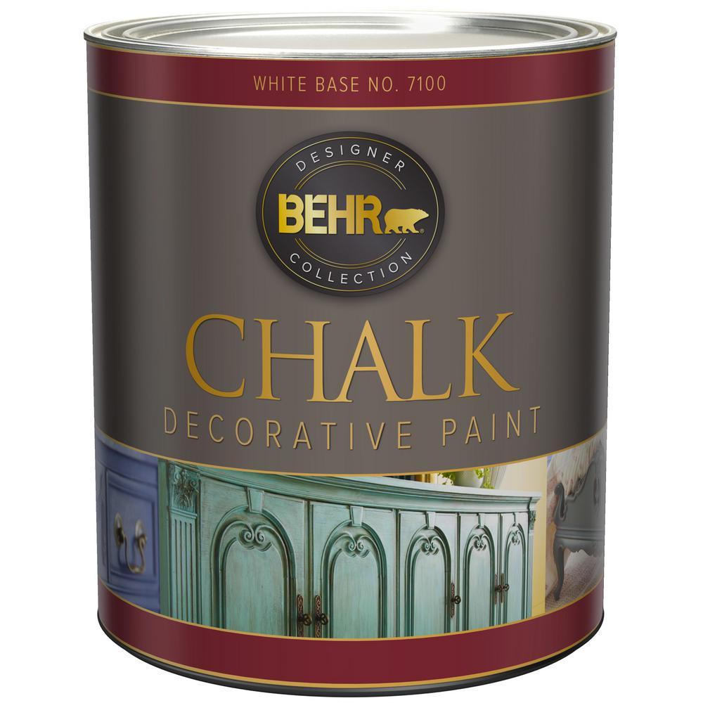 White Paint Interior: BEHR 31 Oz. White Interior Chalk Finish Paint-710004