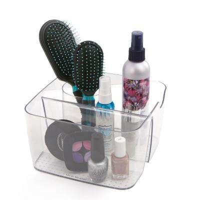 Over-the-Cabinet 5 Compartment Cosmetic Storage Organizer, Clear