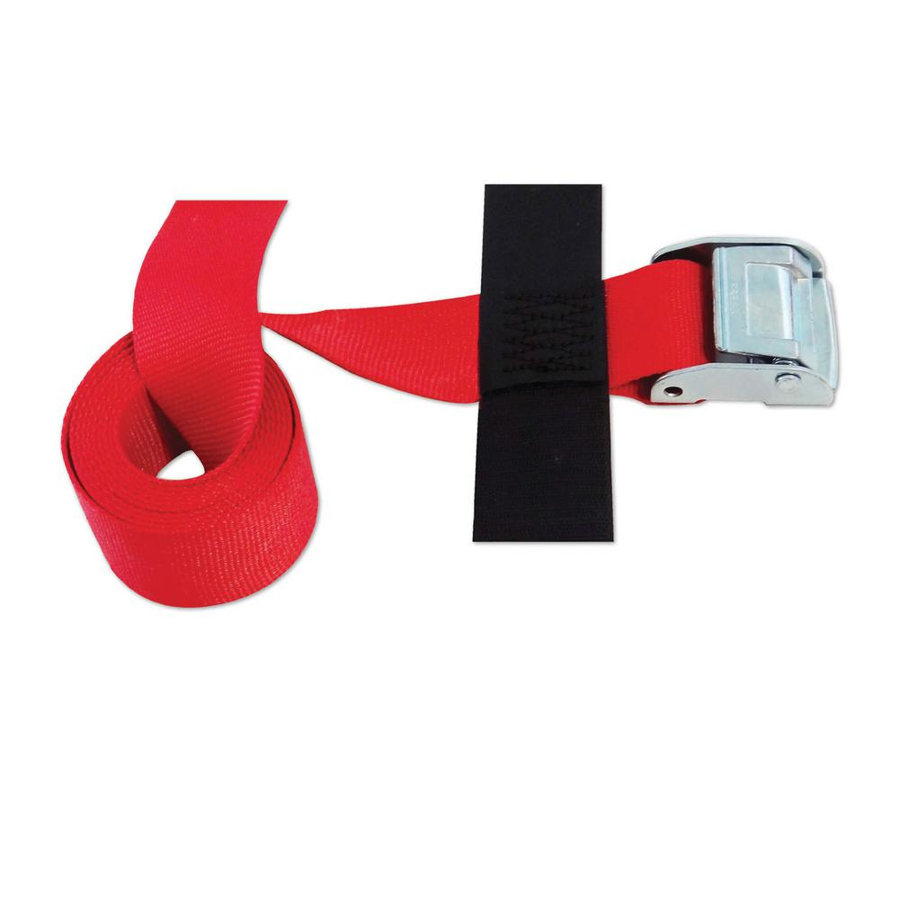 SNAP-LOC 8 ft. x 2 in. Cinch Strap with Ratchet in Red