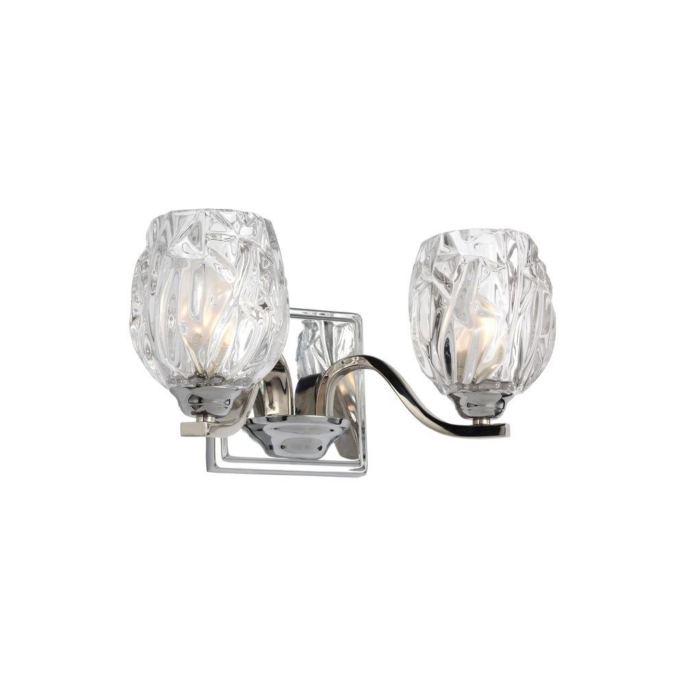 Kalli 2-Light Chrome Wall Bath Light