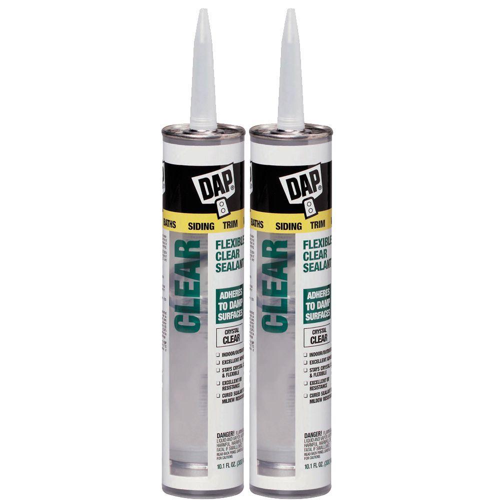 DAP 10.1 oz. Clear Flexible Sealant (2-Pack)-DISCONTINUED
