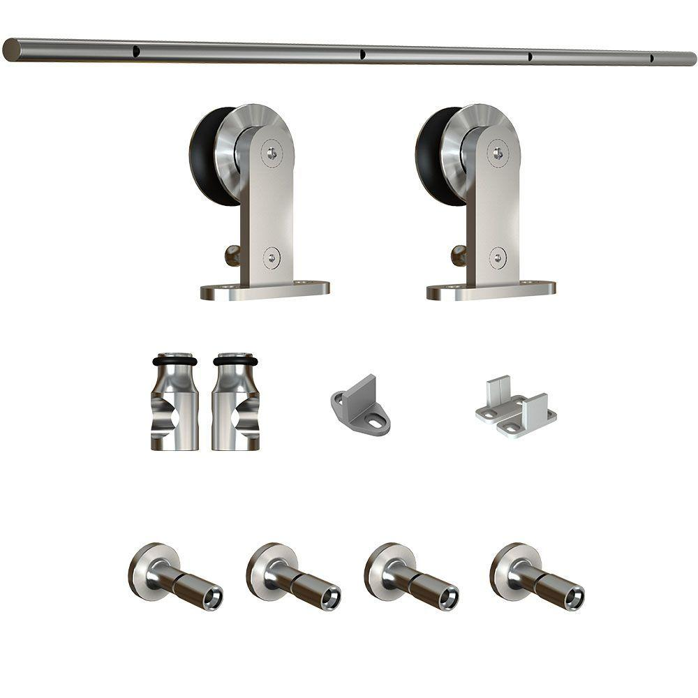 Silver - Barn Door Hardware - Door Hardware - The Home Depot