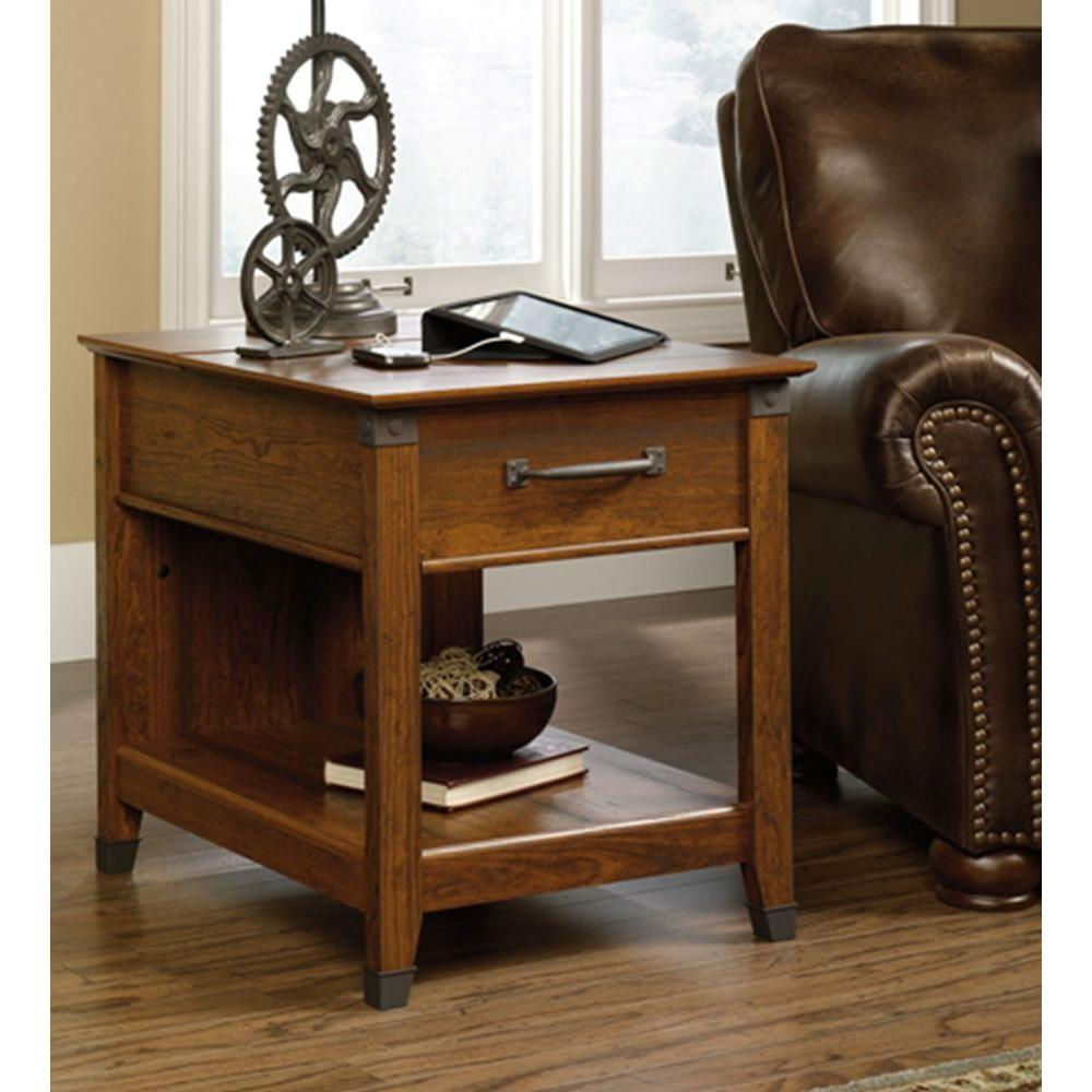 Sauder carson forge washington cherry side table 413350 the home sauder carson forge washington cherry side table geotapseo Gallery