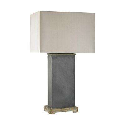 28 in. Elliot Bay Grey Slate Outdoor Table Lamp