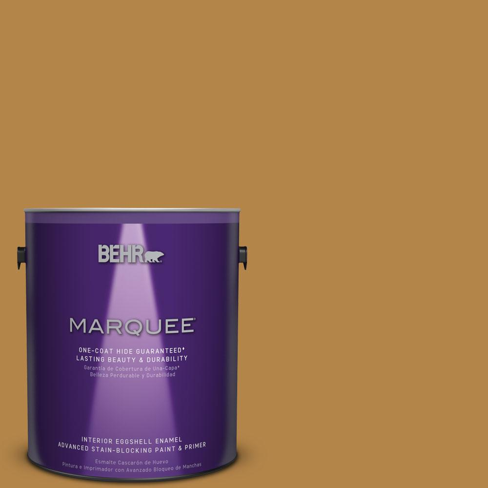 BEHR MARQUEE 1 gal. #MQ4-9 Rice Curry One-Coat Hide Eggshell Enamel Interior Paint