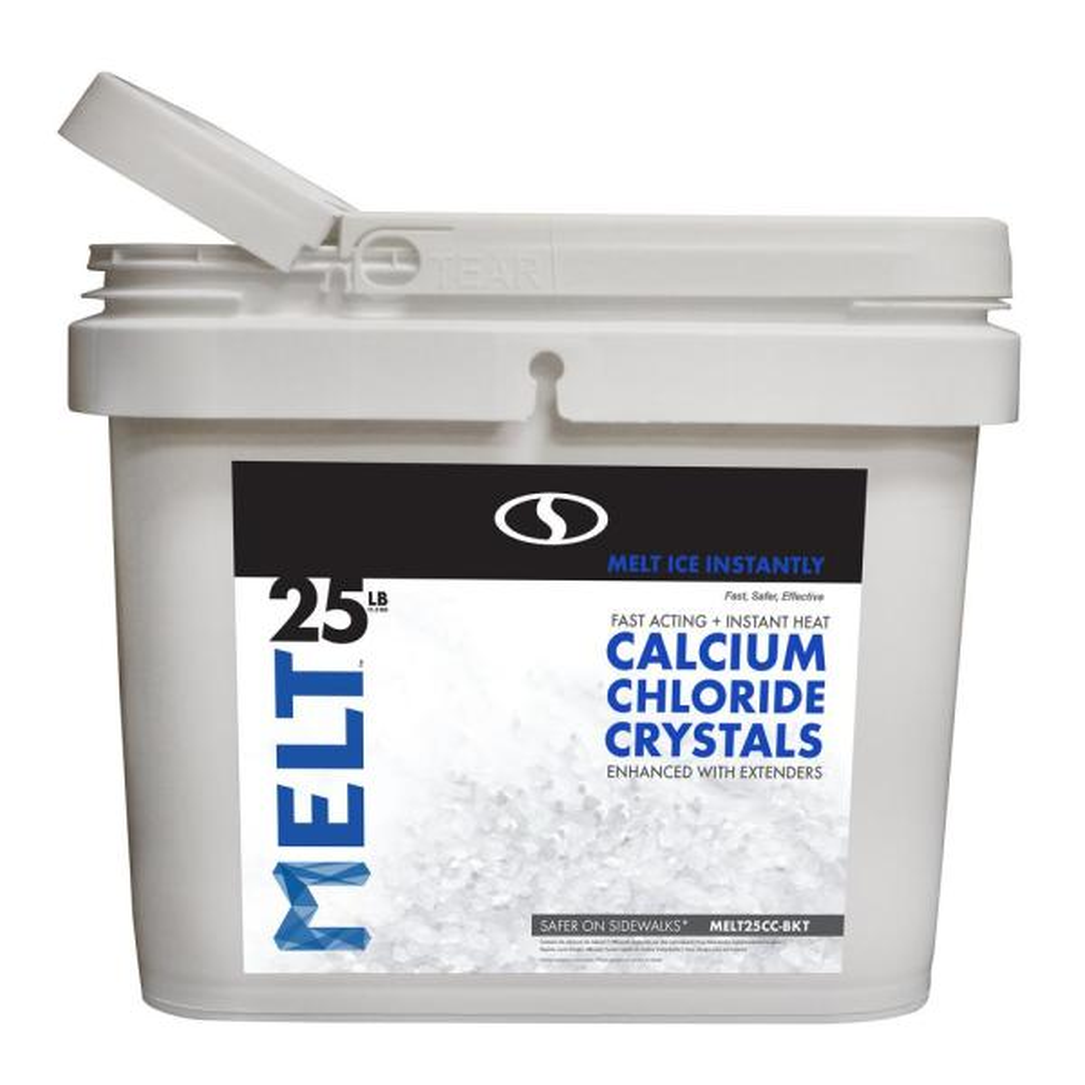 MELT 25 lb. Calcium Chloride Crystals Ice Melter Bucket