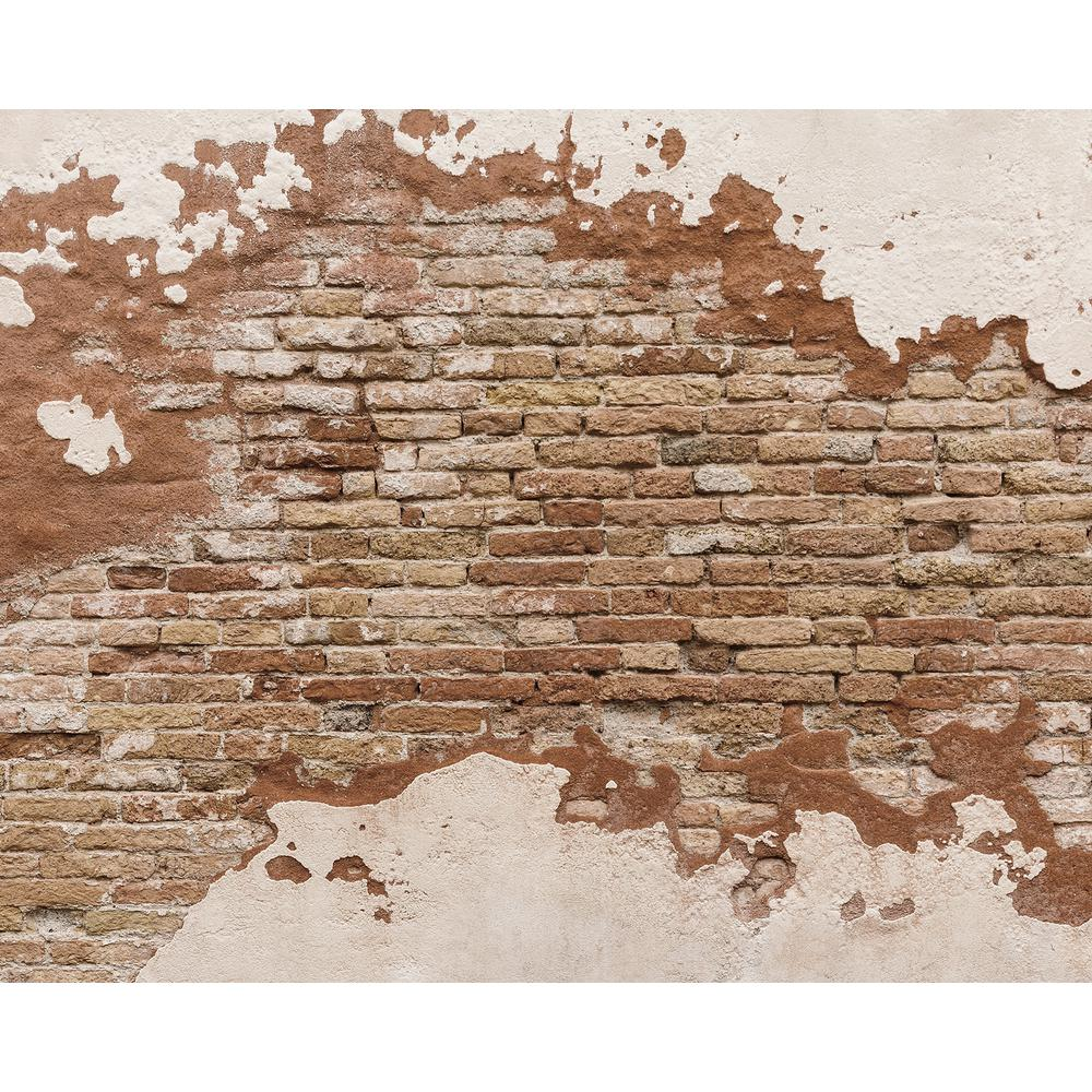 Distressed brick wall mural wr50508 the home depot for Brick wall mural