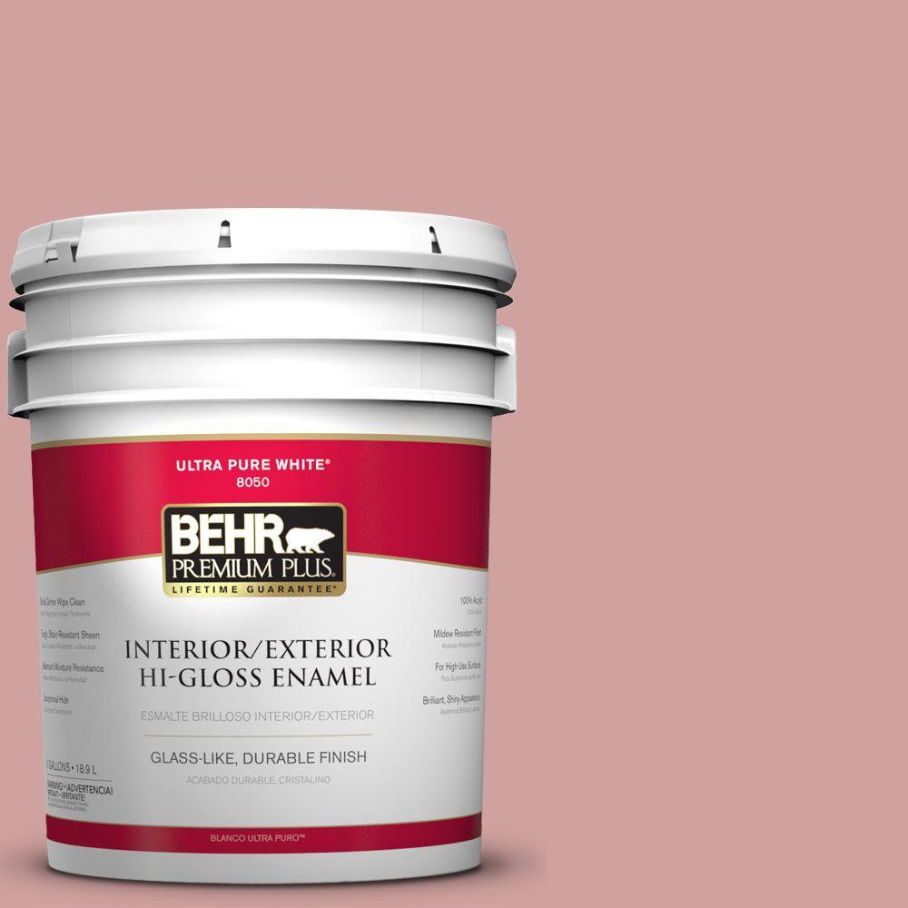 BEHR Premium Plus 5-gal. #S150-3 Rose Pottery Hi-Gloss Enamel Interior/Exterior Paint