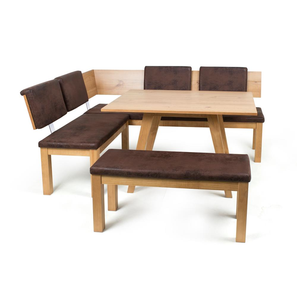 Exceptionnel Artefama Furniture Austin 3 Piece Almond Breakfast Nook Set