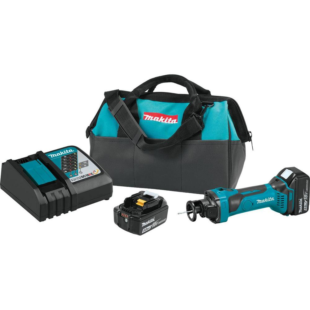 Makita 18-Volt LXT Lithium-Ion Cordless Cut-Out Tool Kit, 5.0 Ah
