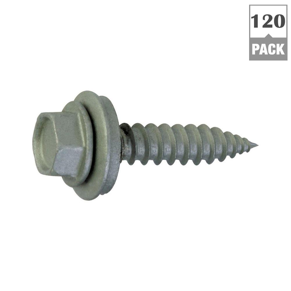 Teks 9 X 1 In Fine Steel Hex Head Sharp Point Roofing