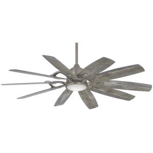 Barn 65 in. Integrated LED Indoor Burnished Nickel Smart Ceiling Fan with Light with Remote Control