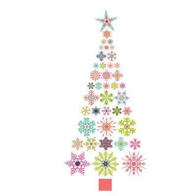 29 in. x 64 in. Holiday Cheer Large Wall Art Kit