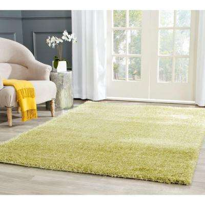 Charlotte Shag Green 5 ft. 1 in. x 7 ft. 6 in. Area Rug
