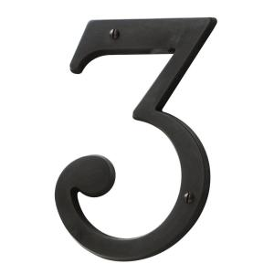 Baldwin 5 inch Oil-Rubbed Bronze House Number 3 by Baldwin