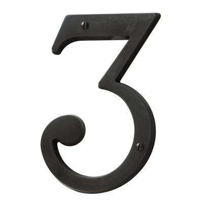 5 in. Oil-Rubbed Bronze House Number 3