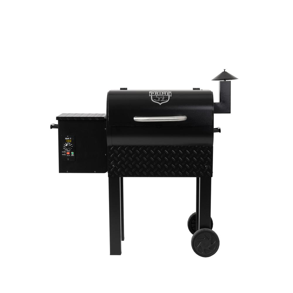 PRIME PELLET GRILLS KC King 300 Pellet Grill in Black Grill, convection oven, slow-roaster, smoker. All of the above. Plus, do it all on auto-pilot with digital temp control and hands-free thermometers. The KC King 300 is the perfect size for smaller decks and patios or for taking the show on the road to feed the tailgate armies. The flavors of real hickory, cherry or mesquite hardwood partner with the ease of electric to bring real smoked meat (or fish, veggies or cheese) to your dinner table - no woodpile or messy charcoal required. Color: Black.