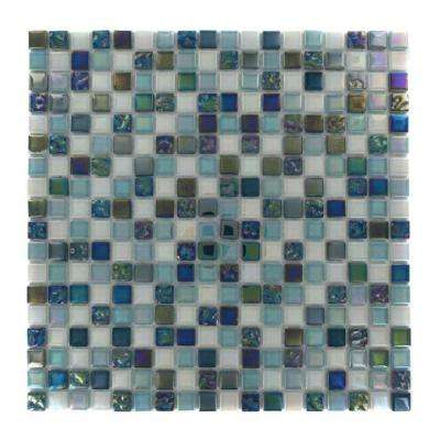 Capriccio Scafati 12 in. x 12 in. x 8 mm Glass Floor and Wall Tile