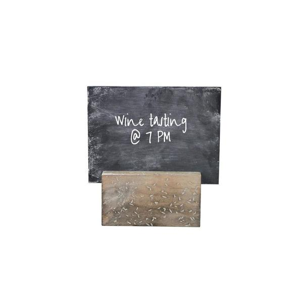 3R Studios Distressed Decorative Holder with Chalkboard