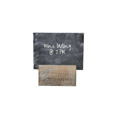 Distressed Decorative Holder with Chalkboard