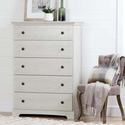 Avilla 5-Drawer Winter Oak Chest of Drawers