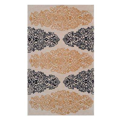 Versailles Tan 1 ft. x 2 ft. Indoor Area Rug