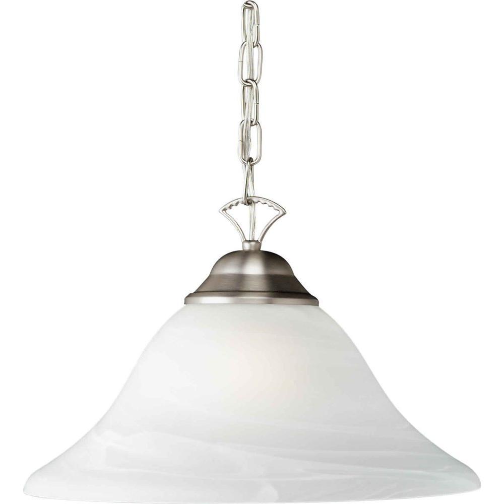 Burton 1-Light Brushed Nickel Incandescent Pendant