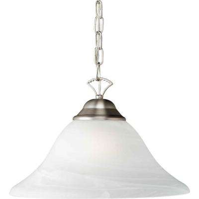 Burton 1-Light Brushed Nickel Incandescent Pendant