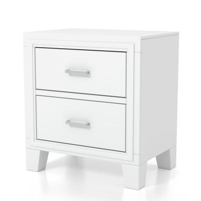 Sedona 2-Drawer White Nightstand