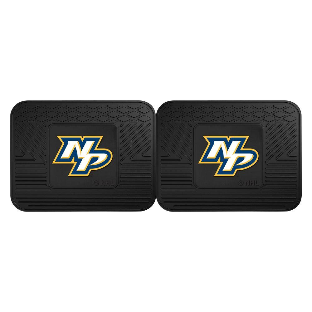 Fanmats Nhl Nashville Predators Black Heavy Duty 14 In X