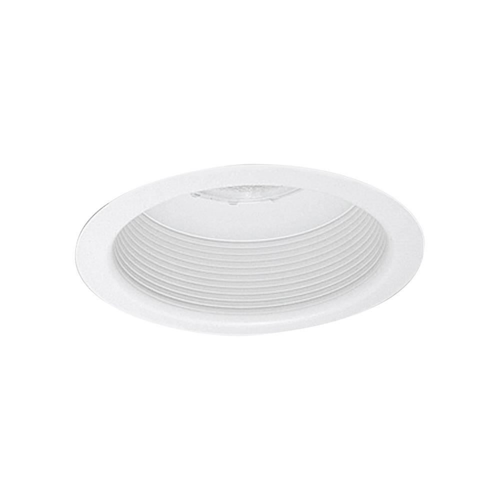 thomas lighting 6 in matte white with white baffle fully enclosed