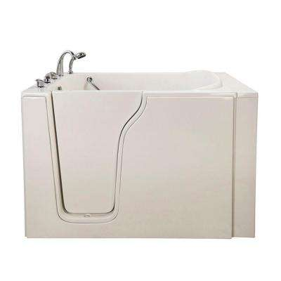 Bariatric 33 4.58 ft. x 33 in. Walk-In Whirlpool Bathtub in White with Left Drain/Door