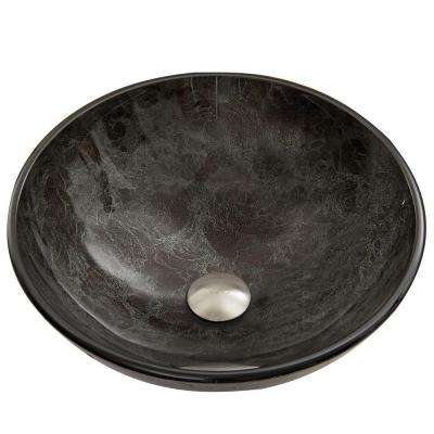 Glass Vessel Sink in Gray Onyx