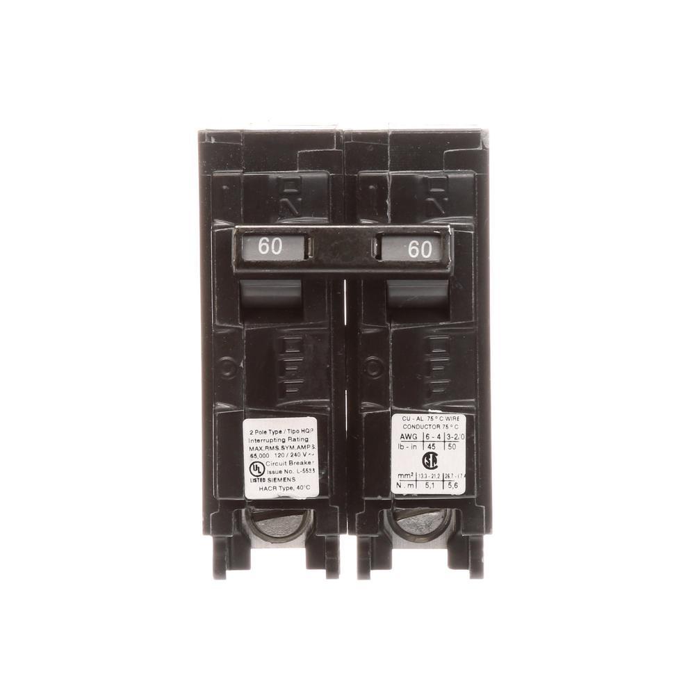 60 Amp 2-Pole HQP 65 kA Circuit Breaker