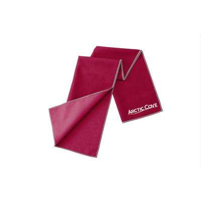 Large Cooling Towel Maroon