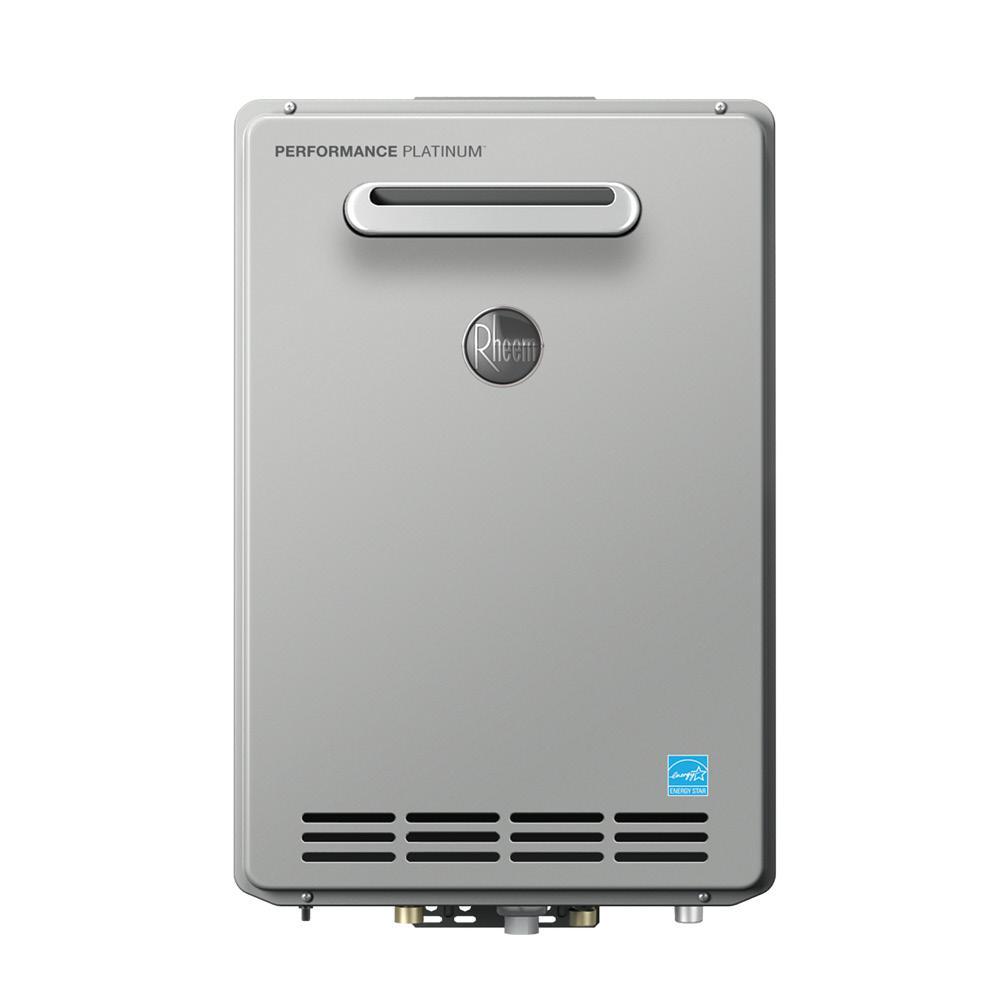 Rheem Performance Platinum 8.4 GPM Liquid Propane High Efficiency Outdoor Tankless Water Heater