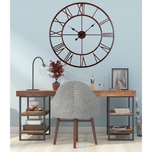 Stratton Home Decor Oversized 31 50 Industrial Austin Wall Clock S23685 The Home Depot