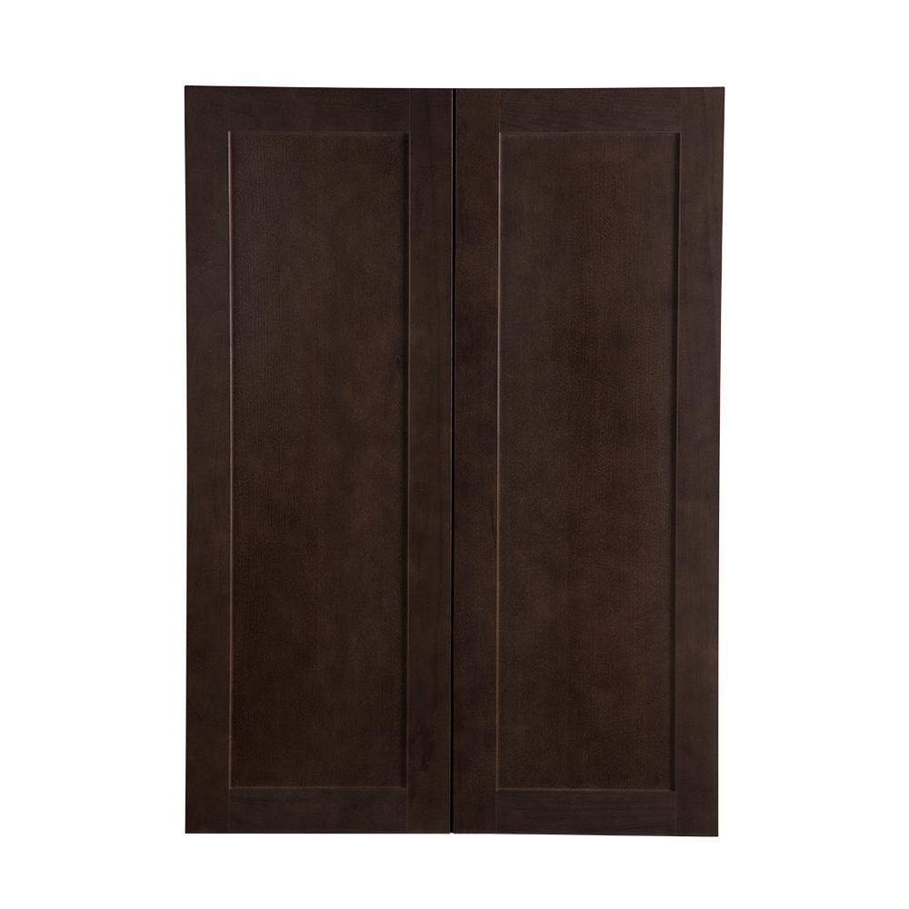 Cambridge Pantry Cabinets In Dusk: Hampton Bay Cambridge Assembled 30x42x12 In. Wall Cabinet