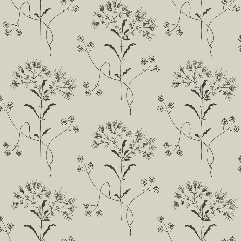 Magnolia Home By Joanna Gaines 56 Sq Ft Wildflower Wallpaper Me1519