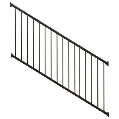 Stanford Black 3.5 ft. H x 96 in. W Textured Aluminum Stair Railing Kit
