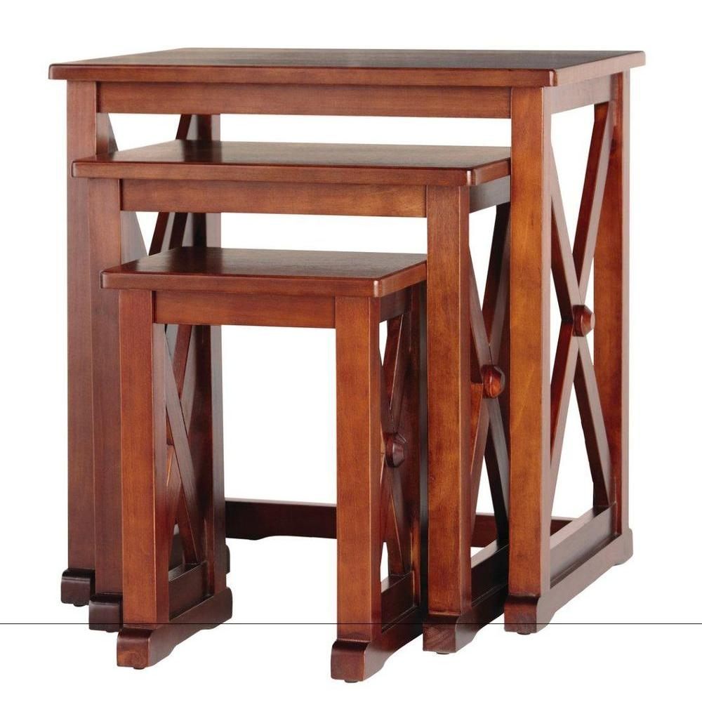 Home Decorators Collection Brexley Chestnut Nesting Tables (Set of 3) - DISCONTINUED
