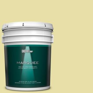 Behr Marquee 5 Gal P350 3 Green Charm Semi Gloss Enamel Interior Paint Primer 345005 The Home Depot