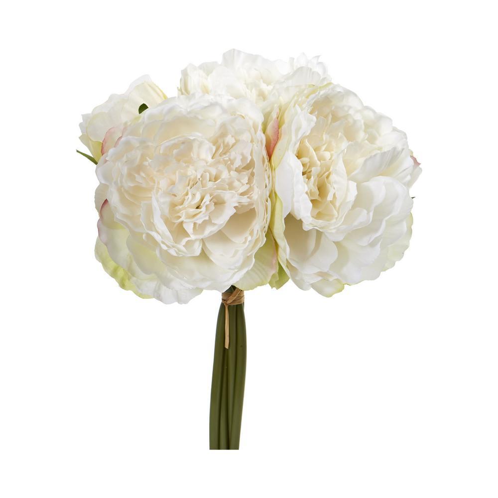 Indoor Peony Bouquet Artificial Flower (Set of 6)