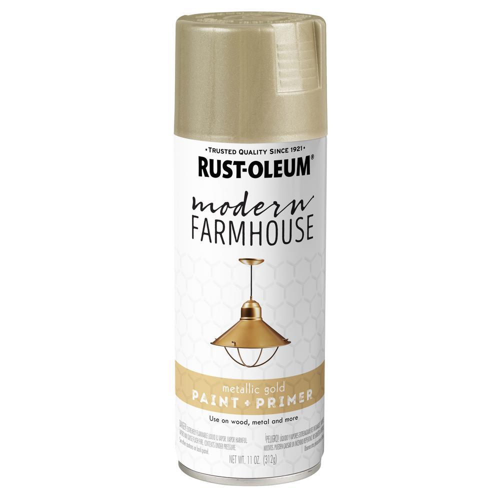 Rust-Oleum Modern Farmhouse 12 oz. Metallic Gold Spray Paint