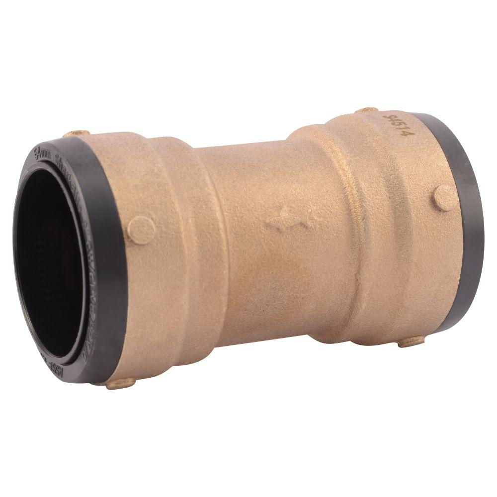 Home Depot Design Connect Online: SharkBite 2 In. Brass Push-to-Connect Coupling-SB0154